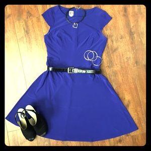 Anne Klein Sleeveless Royal Blue Dress